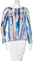 Rebecca Minkoff Abstract Print Silk Top w/ Tags