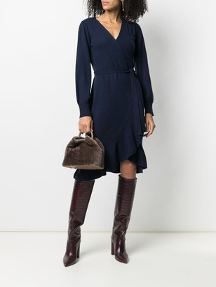 Diane von Furstenberg Cashmere-Wool Blend Fine Knit Wrap Dress