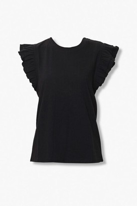 Forever 21 Tiered Ruffle Sleeve Top