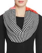 Kate Spade Color Block Striped Infinity Scarf