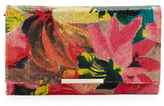 Jessica McClintock Noral Floral Straw Convertible Envelope Clutch