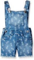 "Kensie Little Girls' Toddler ""Pineapple Print"" Overall Shorts"