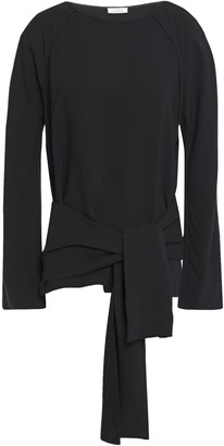 Nina Ricci Wrap-effect Cutout Stretch-crepe Top