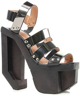 Jeffrey Campbell The Machine Shoe in Black and Silver