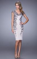 La Femme 21683 Lace Embellished Cocktail Dress