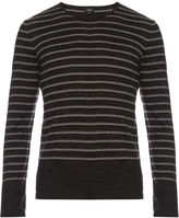 Vince Sporty Jaspé striped cotton-blend sweater