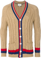 Gucci cable knit cardigan - men - Wool - M