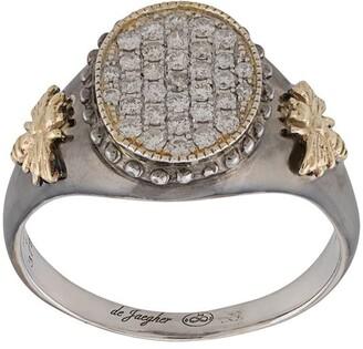 De Jaegher Silver Embossed Bees Ring