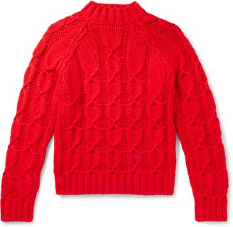 Saint Laurent Slim-Fit Cable-Knit Wool-Blend Sweater