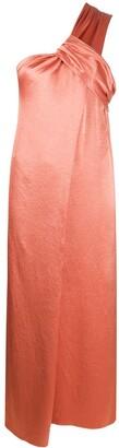 Nanushka Satin Wrapped Neck Dress