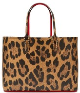 Christian Louboutin Cabata Leopard-print Grained-leather Tote - Womens - Leopard