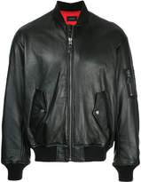 G.V.G.V. lace up detail bomber jacket