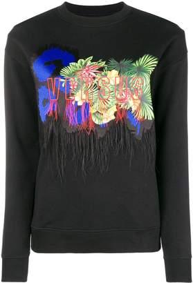 Versus print jersey sweater