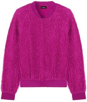 La Perla Ruffled Silk-blend Jersey Top