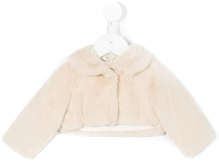 Il Gufo faux fur cropped jacket