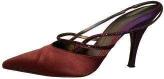 Salvatore Ferragamo Purple Cloth Heels