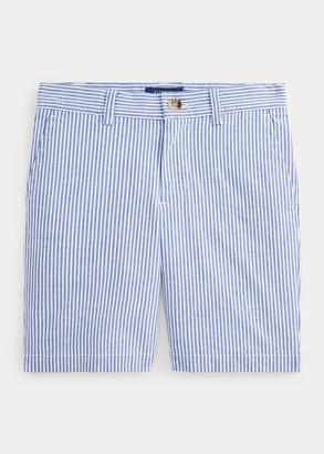 Ralph Lauren Slim Fit Stretch Cotton Seersucker Short