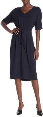 Vince Short Sleeve Tie Waist Dress