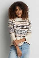 American Eagle Outfitters AE Fair Isle Mock Neck Sweater