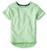 Classic Girls French Terry Sweatshirt-Fuchsia Plum Heather