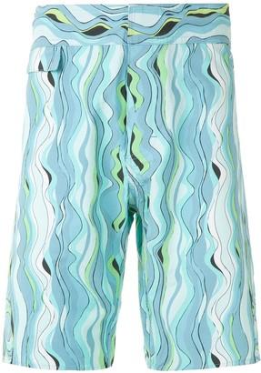 AMIR SLAMA Printed Swim Short