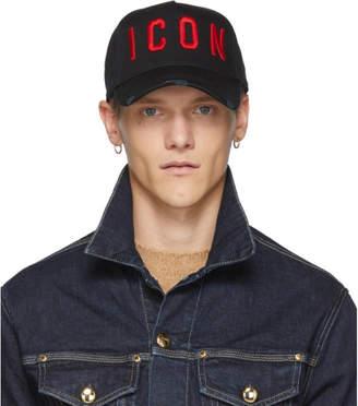 DSQUARED2 Black Icon Hat