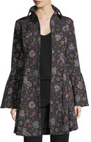 Nanette Lepore Floral-Jacquard Zip-Front Topper Coat