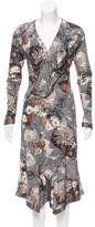 Yigal Azrouel Ruffled Floral Print Dress