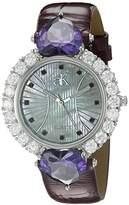 Adee Kaye Women's AK2424-RD SWEET HEART COLLECTION Analog Display Analog Quartz Brown Watch