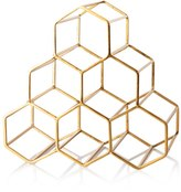 Oliver Bonas Gold Hexagon Wine Rack