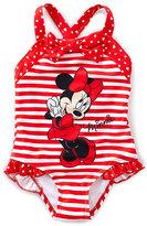 Disney Minnie Mouse 2T-6X Striped One-Piece Swimsuit