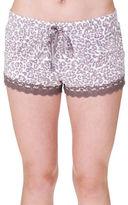 PJ Salvage Leopard Print Modal Blend Shorts