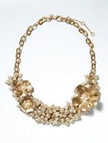 Banana Republic Golden Garden Statement Necklace