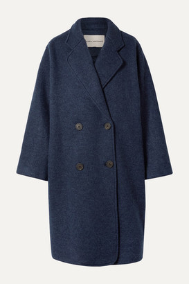 Mara Hoffman Clementine Oversized Double-breasted Wool Coat - Navy