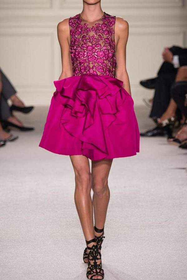Marchesa Pink Embroidered Dress