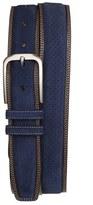 Mezlan 'Fuji Parma' Suede & Leather Belt