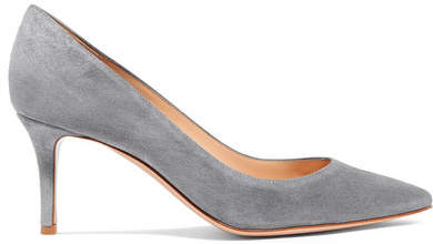 Gianvito Rossi 70 Suede Pumps - Gray
