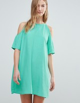 Motel Cold Shoulder T-Shirt Dress