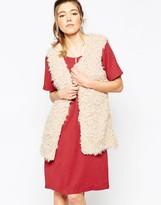 Ichi Faux Fur Vest