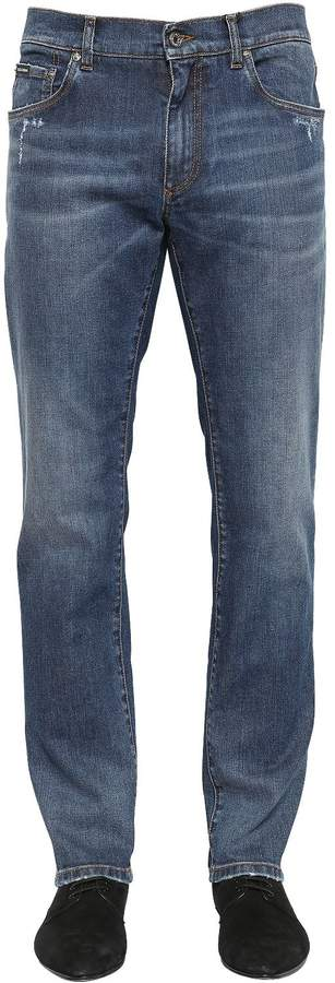 Dolce & Gabbana 16.5cm Stretch Cotton Denim Jeans