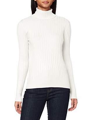 Tom Tailor Women's Rollkragen Rib Longsleeve T-Shirt,Large