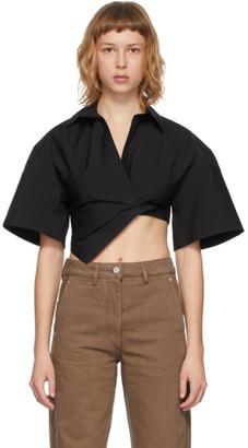Jacquemus Black La Chemise Capri Short Sleeve Shirt
