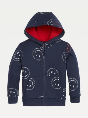 Tommy Hilfiger All-Over Smiley Print Hoody