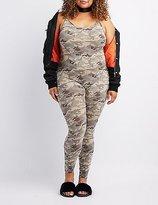 Charlotte Russe Plus Size Camo Bodycon Jumpsuit