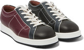 Bottega Veneta - Leather Bowling Sneakers