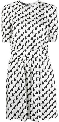 Love Moschino Raindrop-Print Dress
