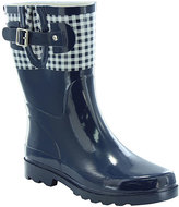 Western Chief Navy Picnic Check Top Pop Mid Rain Boot