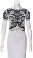 Alexander McQueen Cropped Patterned Top
