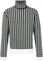 Haider Ackermann houndstooth pattern jumper - men - Cashmere/Wool - M