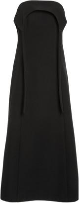 Sandy Liang Women's Sumo Strapless Crepe Midi Dress - Black - Moda Operandi